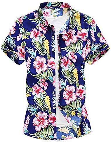 IYFBXl Camisa de Talla Grande para Hombre - Cuello de Camisa Floral, Azul, XXXXXXL: Amazon.es: Deportes y aire libre