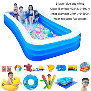 Amazon.com: DSFGHE - Piscina hinchable para adultos, grande ...