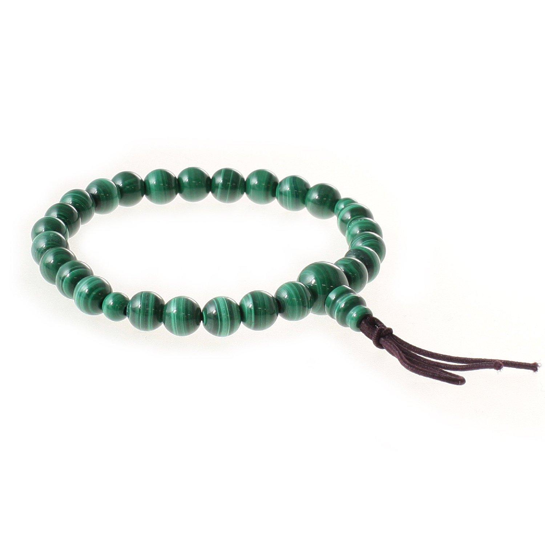 Kyoto-made Malakite 7mm Bead Stone Udewa Nenju Bracelet Tomoshitate Udewa Nenju Bracelet, Made in Kyoto