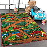 Kids Rug Farm Area Rug 3' x 5' Children Area Rug for Playroom & Nursery - Non Skid Gel Backing 39'' x 58''