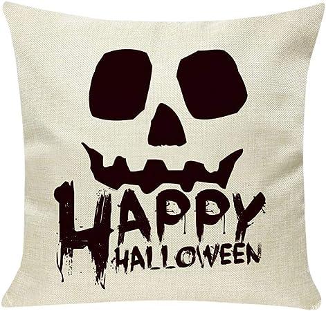 MAYOGO Accesorios de Halloween Fundas Cojines Beige 45x45 Fundas para Cojines Estampado Funda de Cojin Pack para Sofa Decoracion Hogar Halloween Horror Calaveras: Amazon.es: Hogar
