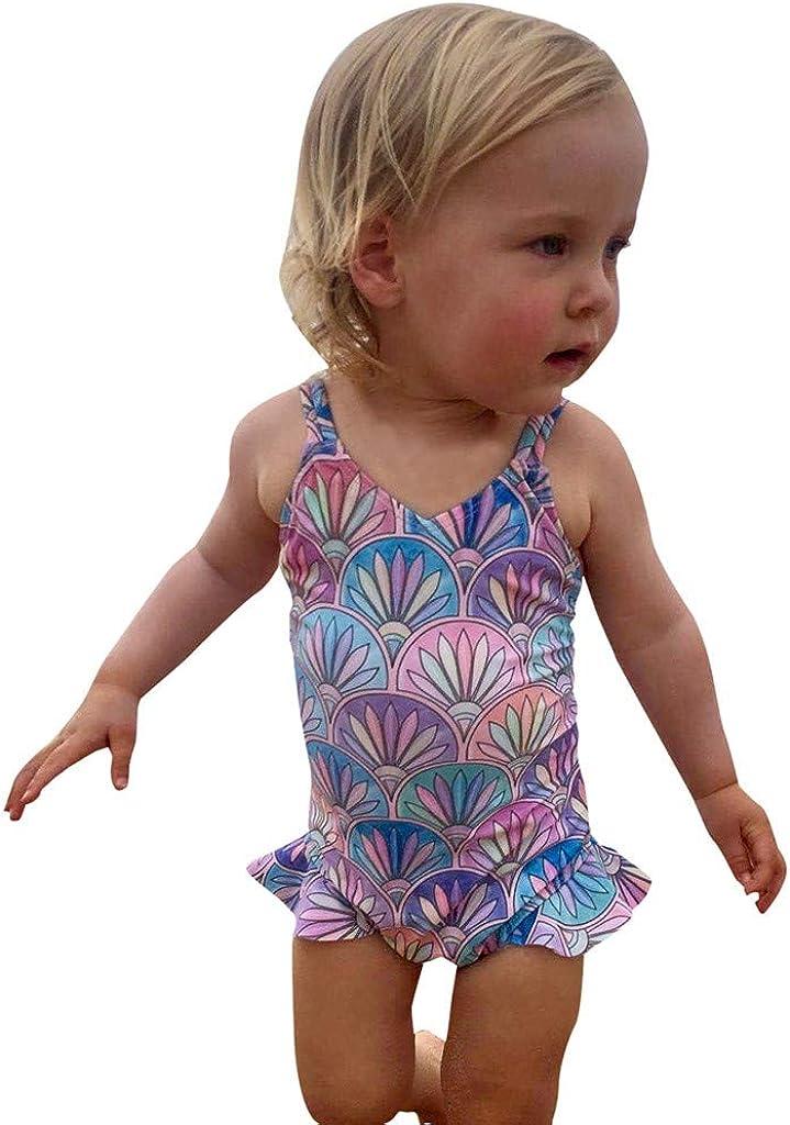 Toddler Baby Gir Swimwear Watermelon Striped Swimsuit Bathing Beach Romper by GorNorriss