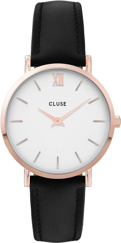CLUSE Reloj Analógico para Mujer de Cuarzo con Correa en Cuero CW0101203020
