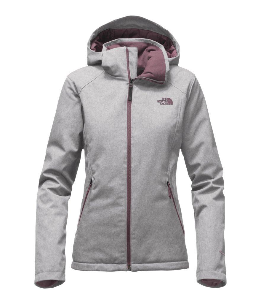 The North Face Women's Apex Elevation Jacket - TNF Light Grey Heather/Black Plum - M (Past Season)