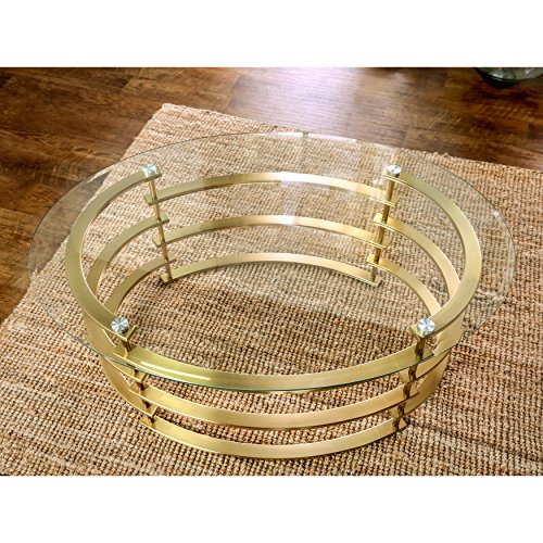 Furniture of America Odella Contemporary 2-piece Glam Glass Top Accent Table Set Gold Gold Finish by Furniture of America (Image #4)
