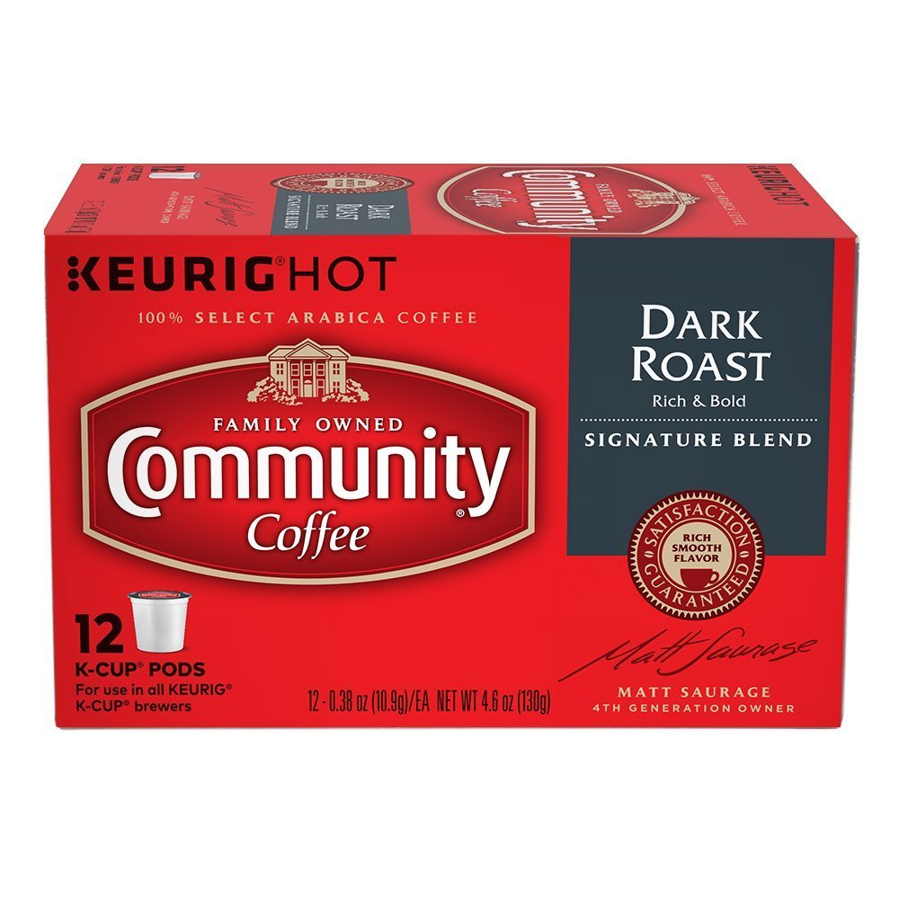 Community Coffee Single-Serve Cups, Dark Roast, 72-Count by Community Coffee
