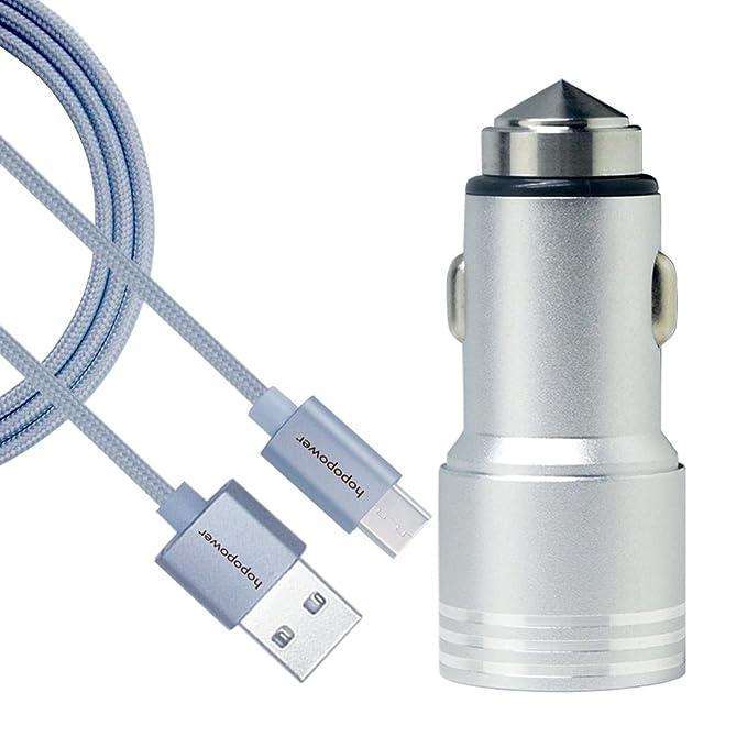 hopopower Dual de carga rápida USB tipo C cargador de coche ...
