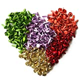 YEJI 500pcs Mixed Color Mini Metal Brad Paper Fastener for DIY Craft 8mm,paper crafts, scrapbooking, card making