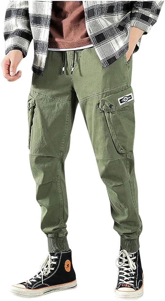 JiaMeng Straight Tapered Pantalon para Hombre Pantalones ...