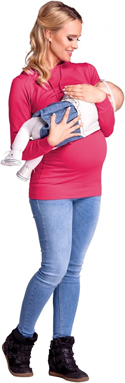 Happy Mama 272p Donna Felpa Cappuccio per LAllattamento Top a Strati pr/émaman