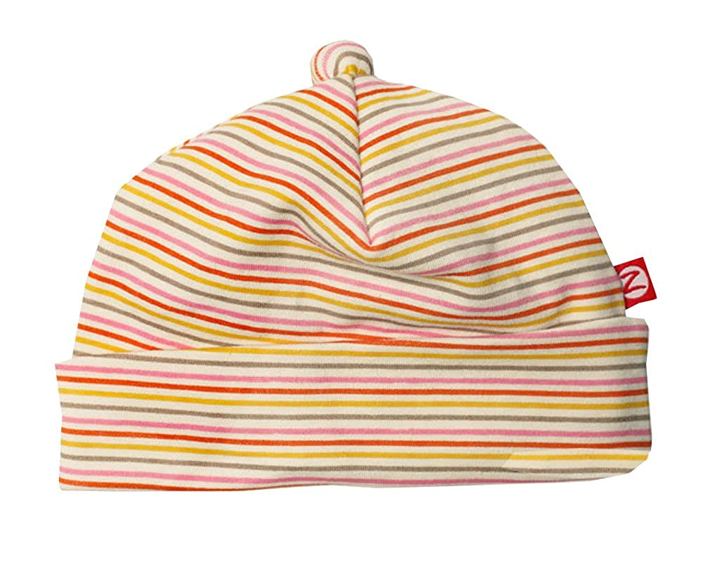 Zutano Sunset Mini Stripe Organic Beanie Hat