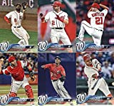 Washington Nationals 2018 Topps Complete Mint Hand Collated 28 Card Team Set with Stephen Strasburg, Bryce Harper and Max Scherzer Plus