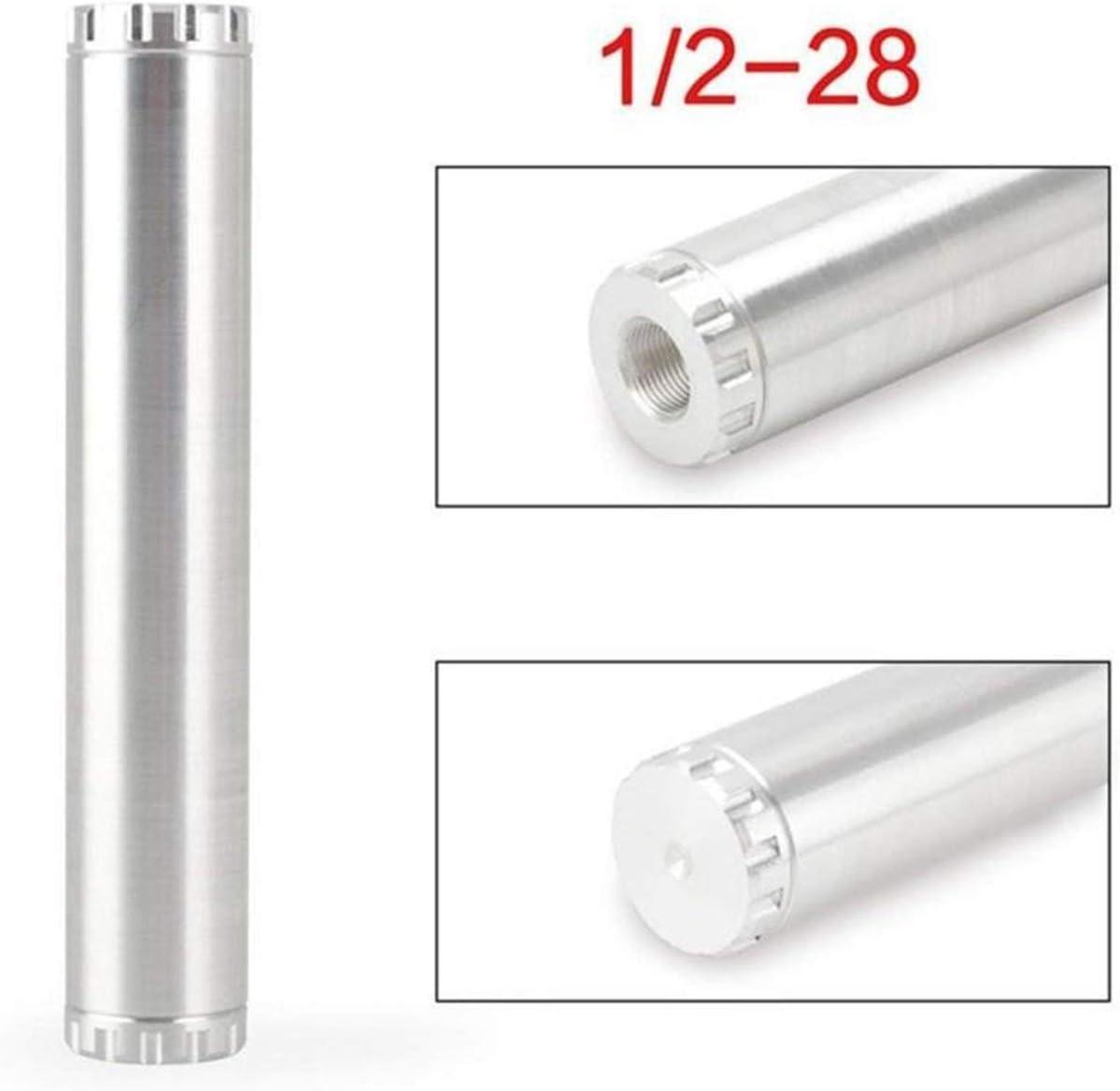 JIO-F argent Pi/ège de filtre /à carburant de voiture en alliage daluminium 1//2-28 ou 5//8-24 filtre /à solvant 1X7 ou 1X13 pi/ège /à solvant de voiture POUR NAPA 4003 WIX 24003