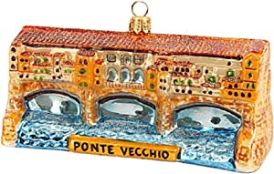 Pinnacle Peak Trading Company Ponte Vecchio Polish Glass Christmas Ornament Florence Italy Travel Decoration