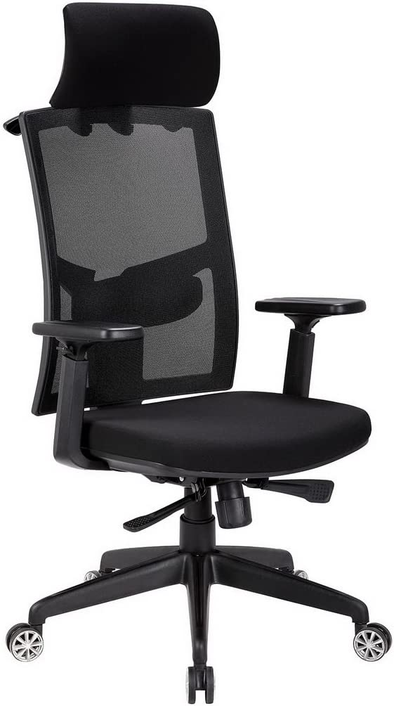 Modrine Mesh Chair – Adjustable Swivel Office Task Desk Chair Black2