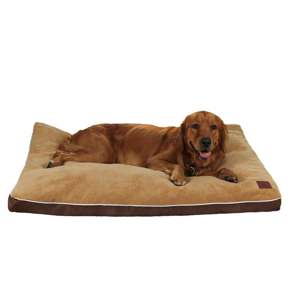 QIAOQI Dog Bed Orthopedic,Pet Crate Mattress, Waterproof Mat Dog&Cat Cushion Bed with Removable Cover