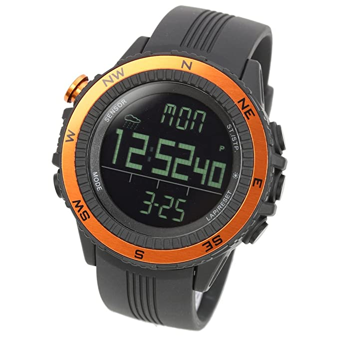 Lad Weather Altimeter Watch Barometer Digital Compass Thermometer Weather Monitor Climbing Trekking Camping Hiking Outdoor