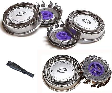 Oral-Q Cabezales de Respuesto para Afeitadoras Eléctricas, 3 piezas Cuchillas de Repuesto para Rasuradoras Philips HQ56 HQ6695 HQ6990 HQ801 HS980: Amazon.es: Salud y ...