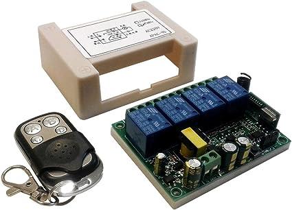 Telecomando aggiuntivo per schede relè 433mhz 4 canali pulsanti ch ricevitore