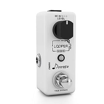 Donner Looper / Pedal de Efectos para Guitarra, con Función True Bypass, color blanco: Amazon.es: Electrónica