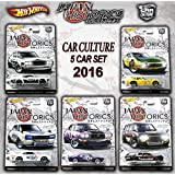 2016 Hot Wheels Set of 5 Cars Japan Historics Car Culture Limited Edition 1:64 Scale Collectible Die Cast Metal Toy Car Models