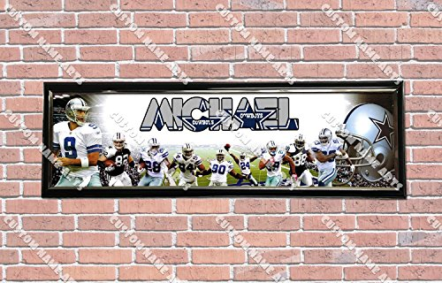 Personalized Customized Dallas Cowboys Poster With Frame, With Your Name On It, Party Door Poster, Room Art Decoration, Wall Decor (Dallas Cowboy Door)