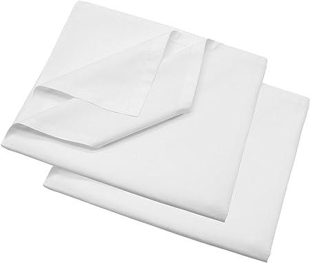 ZOLLNER 2 sábanas bajeras de algodón Blancas, Cama 80, 150x260 cm ...