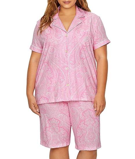 8d5723c6 Lauren Ralph Lauren Bingham Bermuda Plus Size Printed Cotton Pajama ...