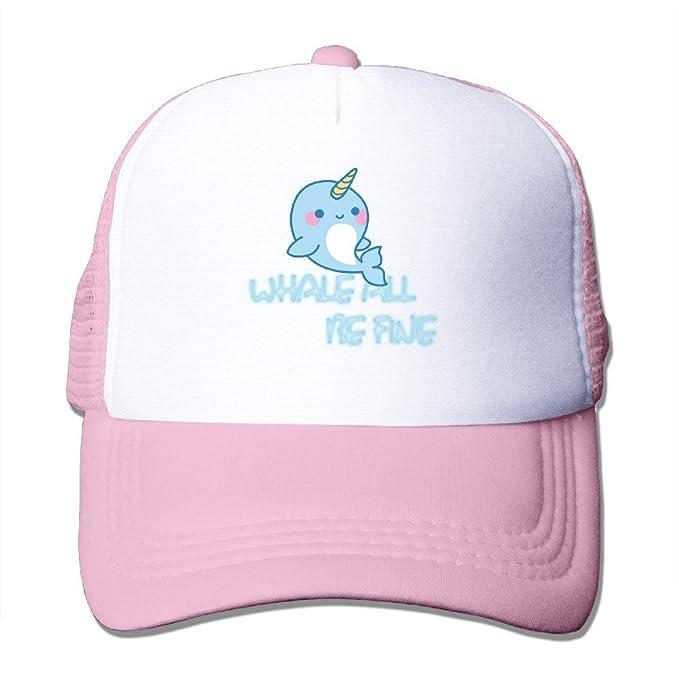 The Internum Cap Funny Whale Todos los Be Fine de Malla Gorra de béisbol para Las Mujeres y los Hombres - Rosado -: Amazon.es: Libros