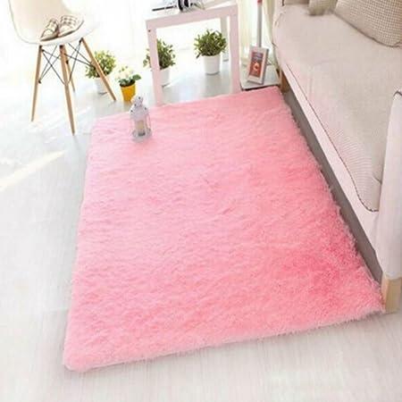 VWH Fluffy Rugs Anti-Skid Floor Mat Yoga Carpet For Home Living Room ...