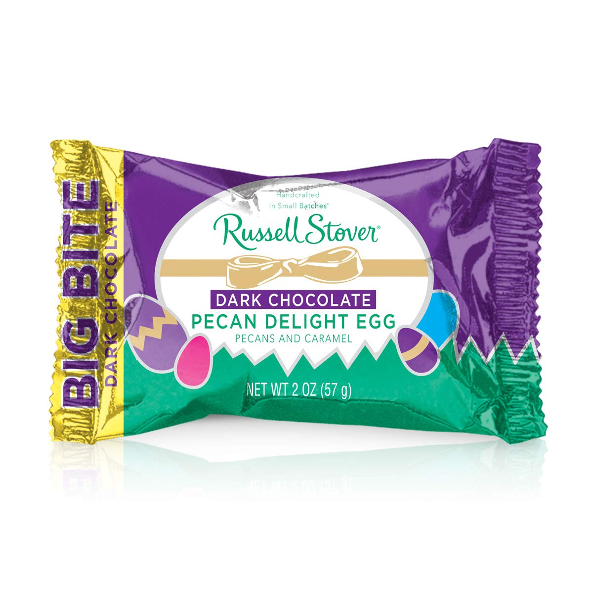 Russell Stover Dark Chocolate King Size Pecan Delight Egg, 2 oz.