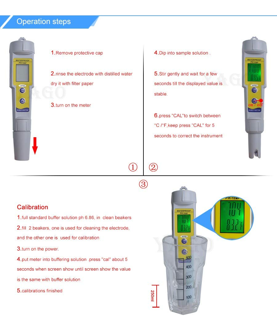 Itechfuture Mini PH Meter Automatic Correction Waterproof Acidity Meter Pen Type Quality Analysis Device by Itechfuture