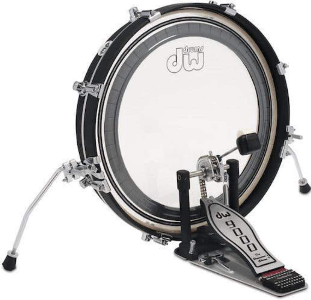 DW Design Series Maple Pancake Bass Drum - 20 Inches - Black Satin