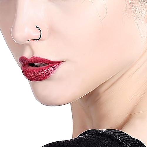Yoodeet 18G C-Shape 316L Surgical Stainless Steel Nose Rings Hoop Earring Piercing Body Jewelry