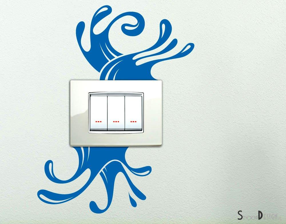 Adesivo Simpatici Spruzzi D'acqua Splash adesivo per interruttore spine placche Adesivi decorativi Wall Stickers decorativo Adesivi Murali Decorazione Cameretta