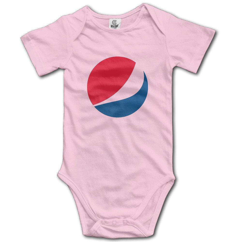 Pepsi-Cola Logotipo bebé Pelele Manga Corta, diseño Serigrafiado bebé Onesie para niño niña: Amazon.es: Hogar