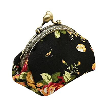 Amazon.com: Cartera, toraway Lady Vintage Flor Mini Monedero ...