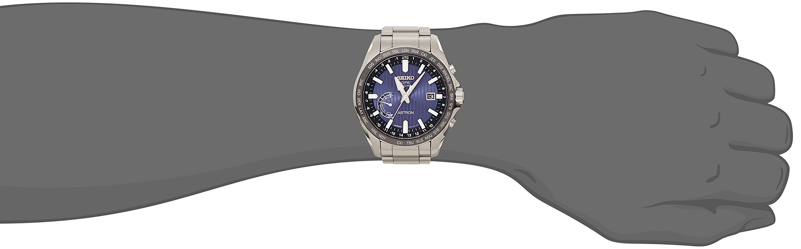 SEIKO Watch ASTRON GPS Solar Watch Striped Dial board SBXB159 Men's New Popularity