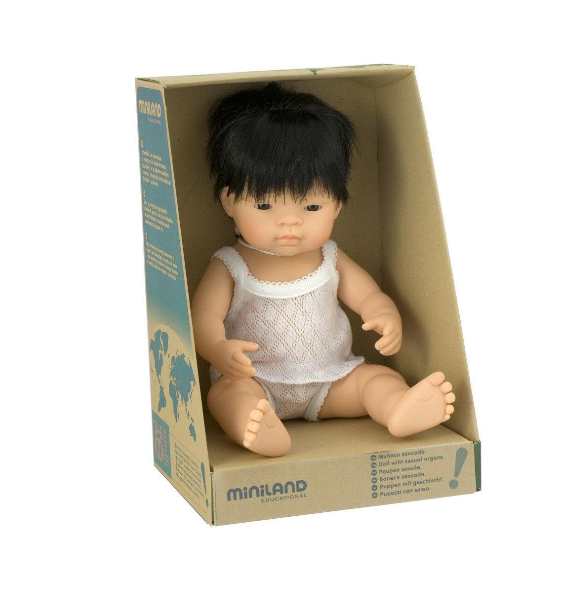 """Miniland Baby Doll Asian Boy (38 cm, 15"""")"""