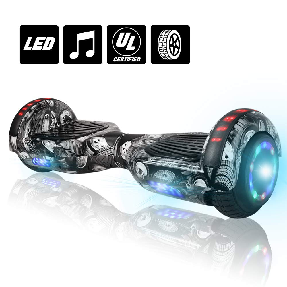 NHT 6.5'' Hoverboard Electric Self Balancing Scooter Sidelights - UL2272 Certified Black, Blue, Pink, Red, White (Wheel) by NHT