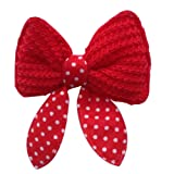 QHGstore Pet Hair Clip Dog Cat Bows Butterfly Grooming Clipper Clips Accessories Red