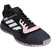 adidas Men's Marquee Boost Low Basketball Core Black/True Pink/Cloud White
