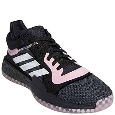 adidas Marquee Boost Low Baloncesto Core Negro/Rosa Verdadero ...