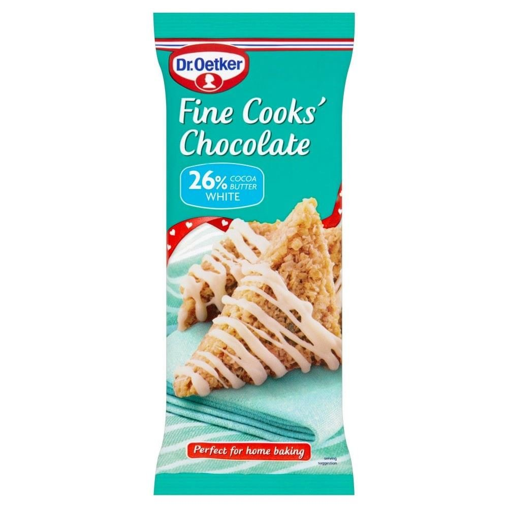 Dr. Oetker Fine Cooks†White Chocolate Bar (150g) - Pack of 6 by Dr. Oetker