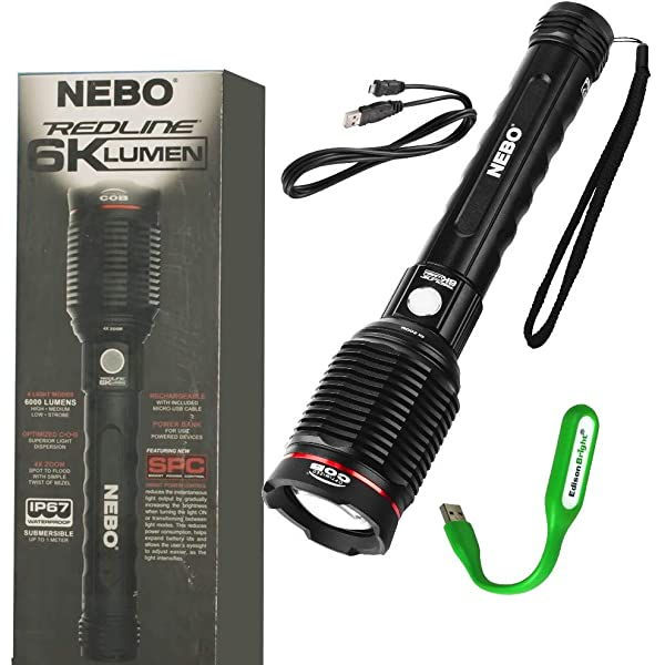 Nebo 6697 Redline Blast RC lampe de poche 3200 lm rechargeable Hand Held Torche