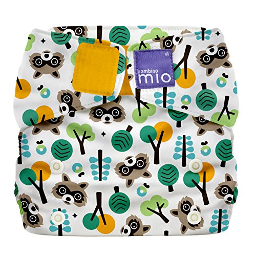 Bambino Mio, Miosolo All-in-One Cloth Diaper, OneSize, Raccoon Retreat