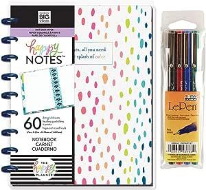Create 365 Classic Happy Planner – Happy Notes – A Little Splash of Color + Uchida Le Pen 0.3mm Pen 4 Pack