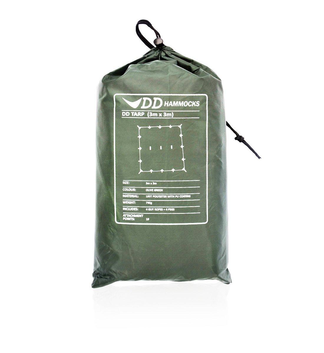 DD Bâche légère, polyvalente et résistante 3 m x 3 m vert Vert olive B005FPN7GE