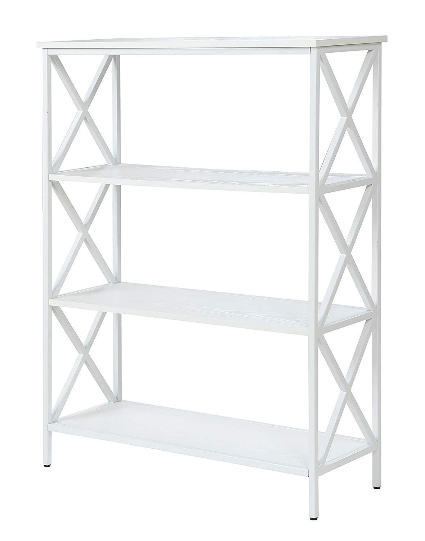Convenience Concepts Tucson Bookcase, 4-Tier, White