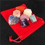 7 Chakra Stones Healing Balancing Crystals Set Crystal Therapy Meditation Reiki Thumb Stones Mineral Rock Jewelry Sets Home Decoration